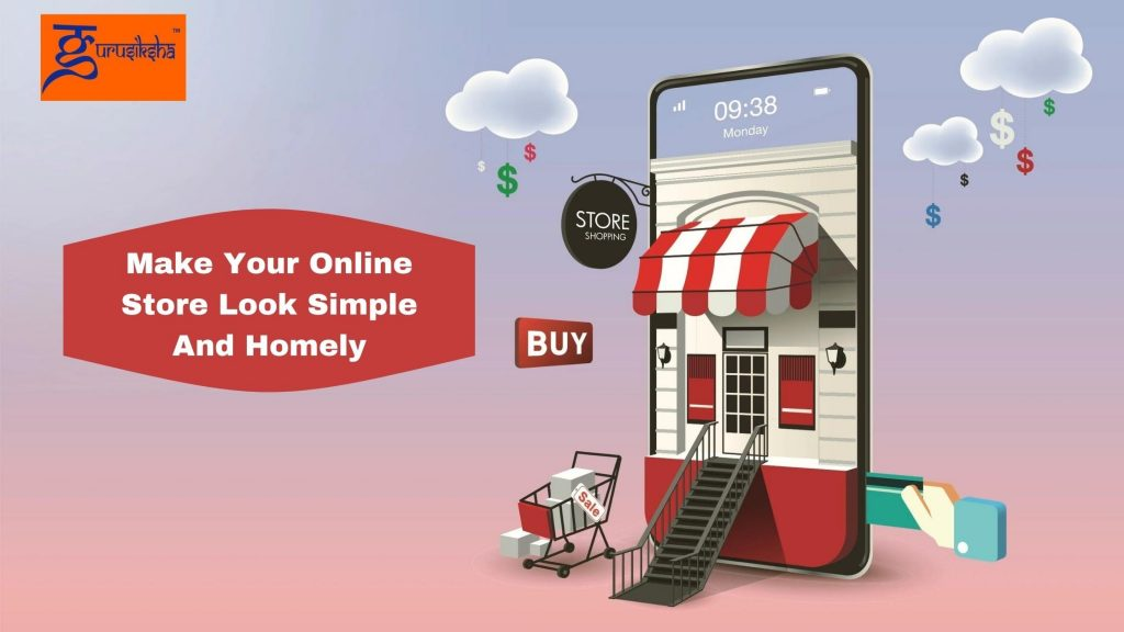 Make your online store look simple and Homely