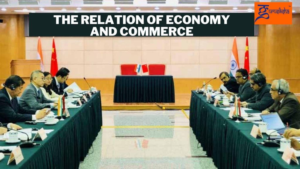 The relation of economy and commerce